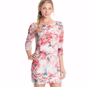 Guess Floral Mini Shift Dress In Bloom Size 8
